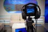 Câmera de estúdio de televisão — Fotografia Stock