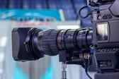 Lente de la cámara de video — Foto de Stock