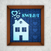 Home sweet home. Vector card — Stock Vector