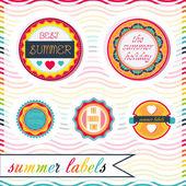 Vector summer labels — Stock Vector