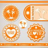 Retro lato wakacje etykiety — Wektor stockowy