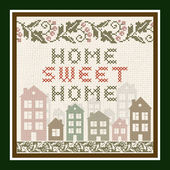Home Sweet Home Vintage Background — Stock Vector