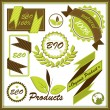 Set of organic and farm fresh food badges and labels — Stock Vector #29639671