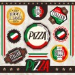 The set of pizza signs — Stock Vector