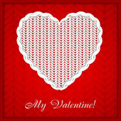 """Valentines day card with sign """" My Valentine"""" — Stock Vector"""