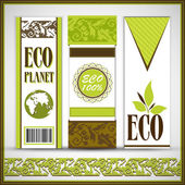 Green ECO Card Template — Vettoriale Stock