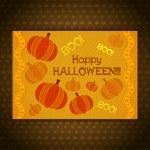 Halloween pumpkin card — Stock Vector