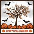 Happy halloween card — Stock Vector #33968825