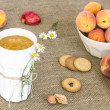 Delicious Peach Smoothie — Stock Photo