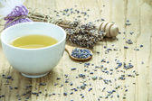 Herbal Tea with Lavender — Stock Photo