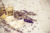 Natural Lavender Products — Stock Photo
