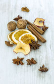 Dried Fruits and Spices — Stock Photo