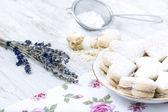 Vanilla Cookie and Lavender — Stock Photo