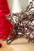 星の形をしたクリスマスの飾りのクローズ アップ — ストック写真