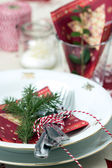 Christmas Place Setting — ストック写真
