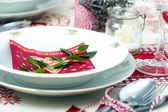 Christmas Place Setting — Stock Photo