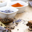 Spices on wooden table — Stock Photo #40077811
