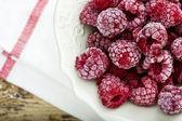 Frozen Raspberry in Bowl — Stock Photo