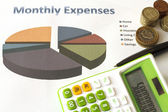 Monthly Expenses Plan. — Stock Photo