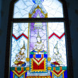 Allegory stained glass window — Stock Photo