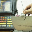 Calibration standard probe of ultrasonic test — Стоковая фотография