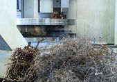 Mound Scrap Metal of CNC Machine — Stock Photo