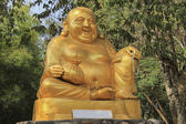 Golden Statue Katyayana — Stock Photo