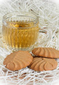Cookies and tea cup — Stock Photo