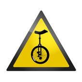 одноколесном велосипеде roadsign — Cтоковый вектор