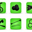Juggling icons green — Stock Vector #29955613