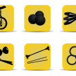 Juggling icons yellow — Stock Vector #29955623