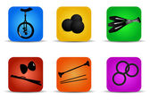 Juggling icons — Stock Vector