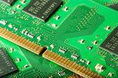 RAM memory module connectors — Stock Photo