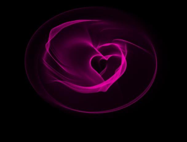Animación de corazón de San Valentín — Vídeo de stock