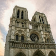 Notre dame cathedral in Paris, HDR — Stock Photo