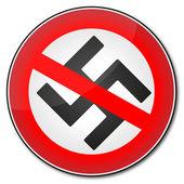 Stop nazism symbol — Stock Vector