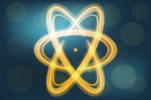 Single atom illustration — Stock Vector