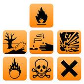Hazard pictograms Europe standard — Stock Vector