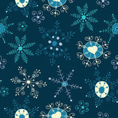 Ornate snowflake seamless background — Stock Vector