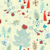 Christmas card.Vector illustration. — Stock Vector