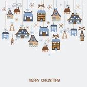 Retro Christmas Decorations — Stock Vector