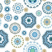 Floral seamless pattern, endless texture with ornate flowers. — Vettoriale Stock