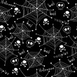 Halloween seamless pattern. Spiders on Webs seamless — Stock Vector