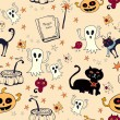 Halloween seamless background — Stock Vector