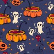 Halloween seamless background — Stock Vector #30633631
