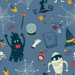 Vector de stock : Halloween seamless background