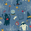 图库矢量图片: Halloween seamless background