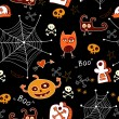 Halloween seamless background. — Stock Vector