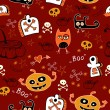 Halloween seamless background. For children — Stock Vector