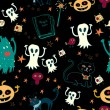 Vector de stock : Halloween seamless background.